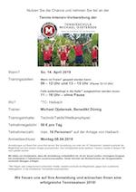 Tenniscamp am 14.4.19 (fällt aus)